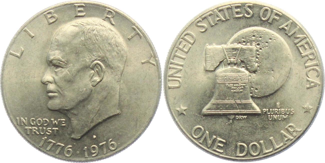 1 Dollar 1976 D Usa 1 Dollar Eisenhower 1971 1978 Ef