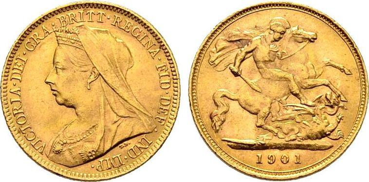 Briefe Queen Victoria : Sovereign grossbritannien queen victoria mit
