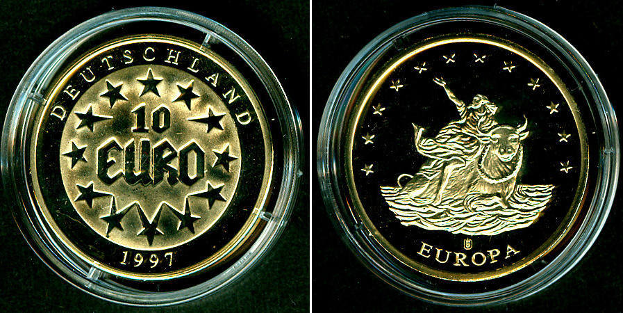 1997 Medaillen Und Jetons Deutschland Medaille 10 Euro 1997 Pp Pp