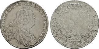 SACHSEN Konventionstaler 1763 FWoF Dresden. Sehr s