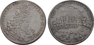 KÖLN Reichstaler 1705 auf die Huldigung der Stadt