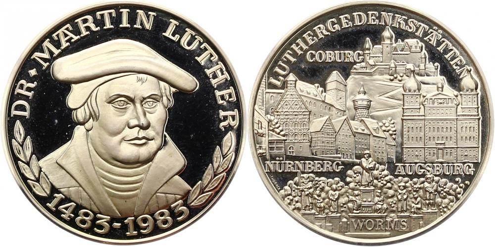 Silbermedaille 1983 Reformation 500 Geburtstag Von Martin Luther