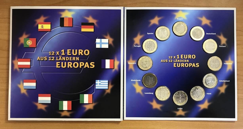 12 X 1 Euro 1999 2002 12 Länder Europas 12 X 1 Euro Aus 12 Ländern