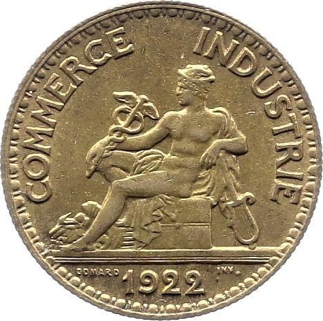 50 centimes 1922 france 50 centimes chambre de commerce for Chambre de commerce francaise en allemagne