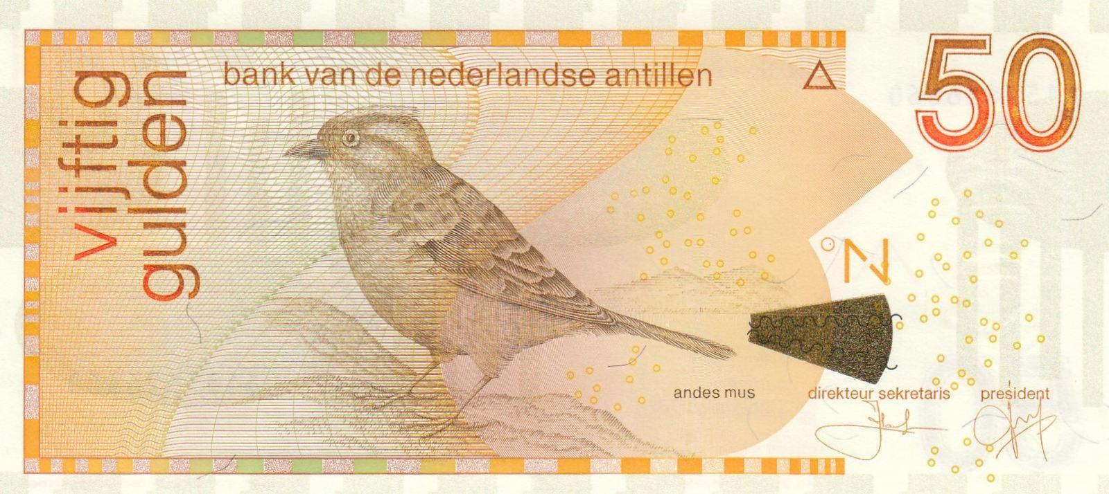 50 gulden 2016 antilles néerlandaises 50 gulden, moineau - 2016 neuf