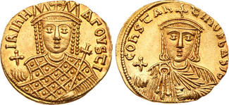 Byzantine Empire  (AD 780-797) Mint State. Irene-C