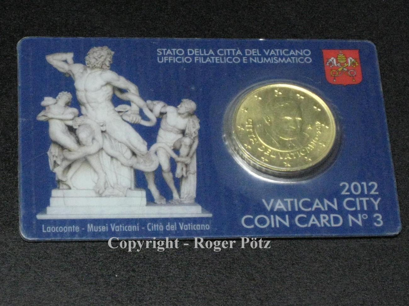50 Cent 2012 Vatikan 50 Cent 2012 Coincard Nummer 3 Fdc Ma Shops