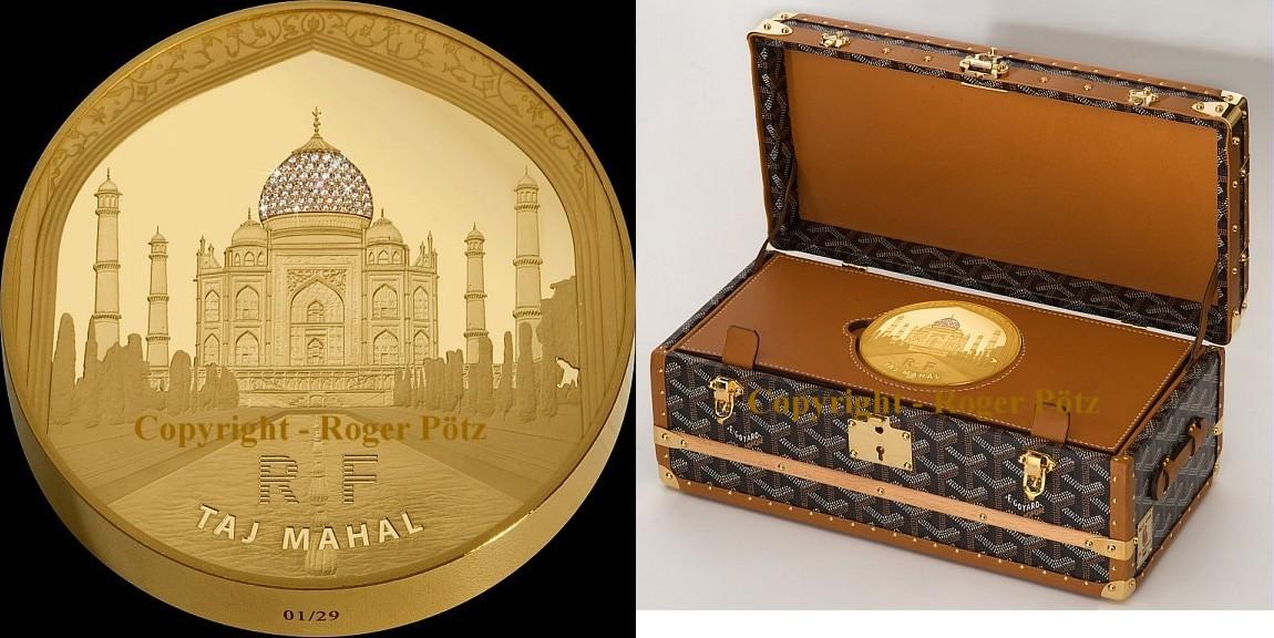 5000 Euro 2010 Frankreich 5000 Euro 2010 Taj Mahal 1 Kg Gold Mit 68