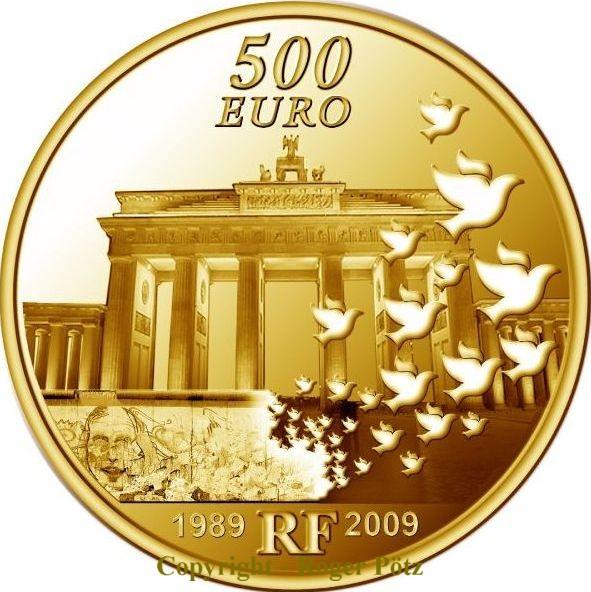 500 Euro 2009 Frankreich 500 Euro Europa 2009 Gold 5 Unzen Pp 20