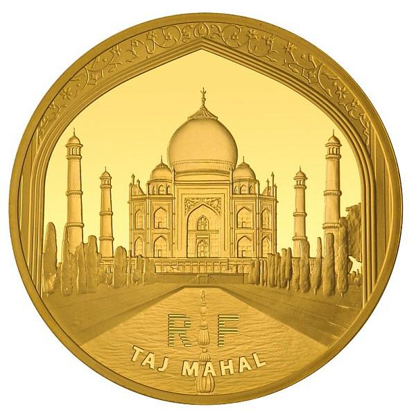 500 Euro 2010 Frankreich 500 Euro 2010 5 Unzen Fein Gold Taj Mahal