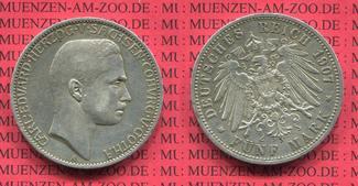 Sachsen Coburg Gotha 5 Mark Silbermünze 1907 ss-vz