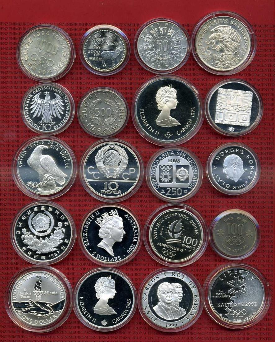 20 Gedenkmünzen Aus Silber Zur Olympiade 1952 2002 50 Jahre