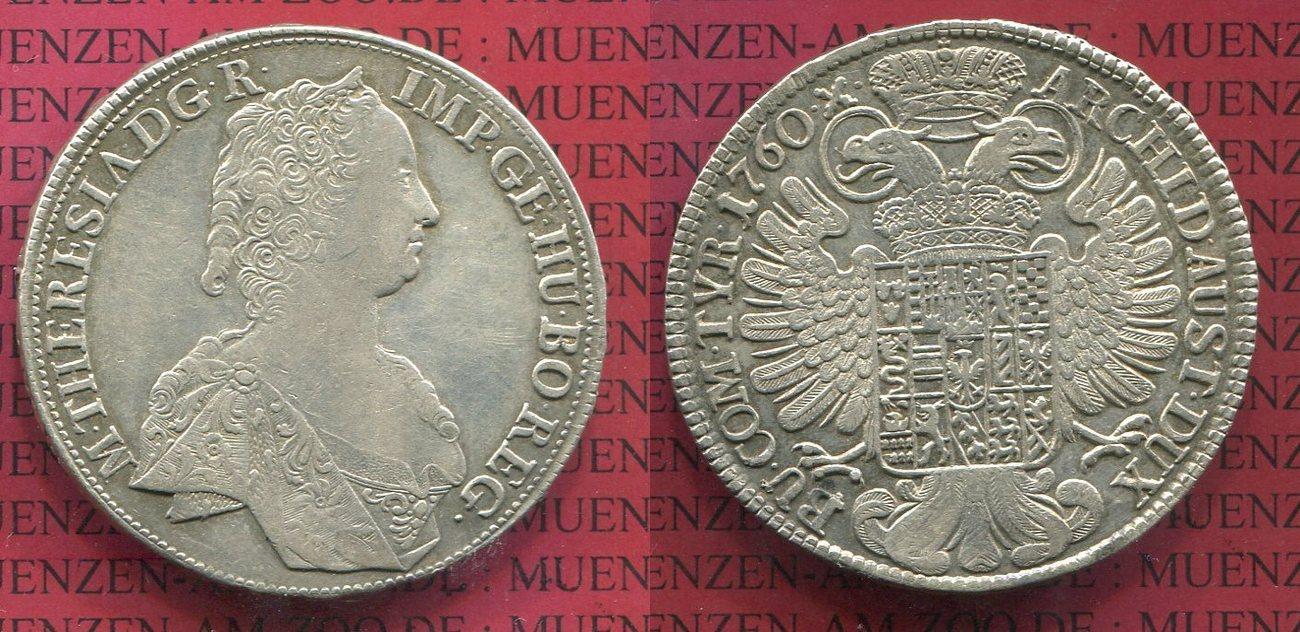 Taler 1760 Habsburger Erblande Haus Habsburg österreich Maria