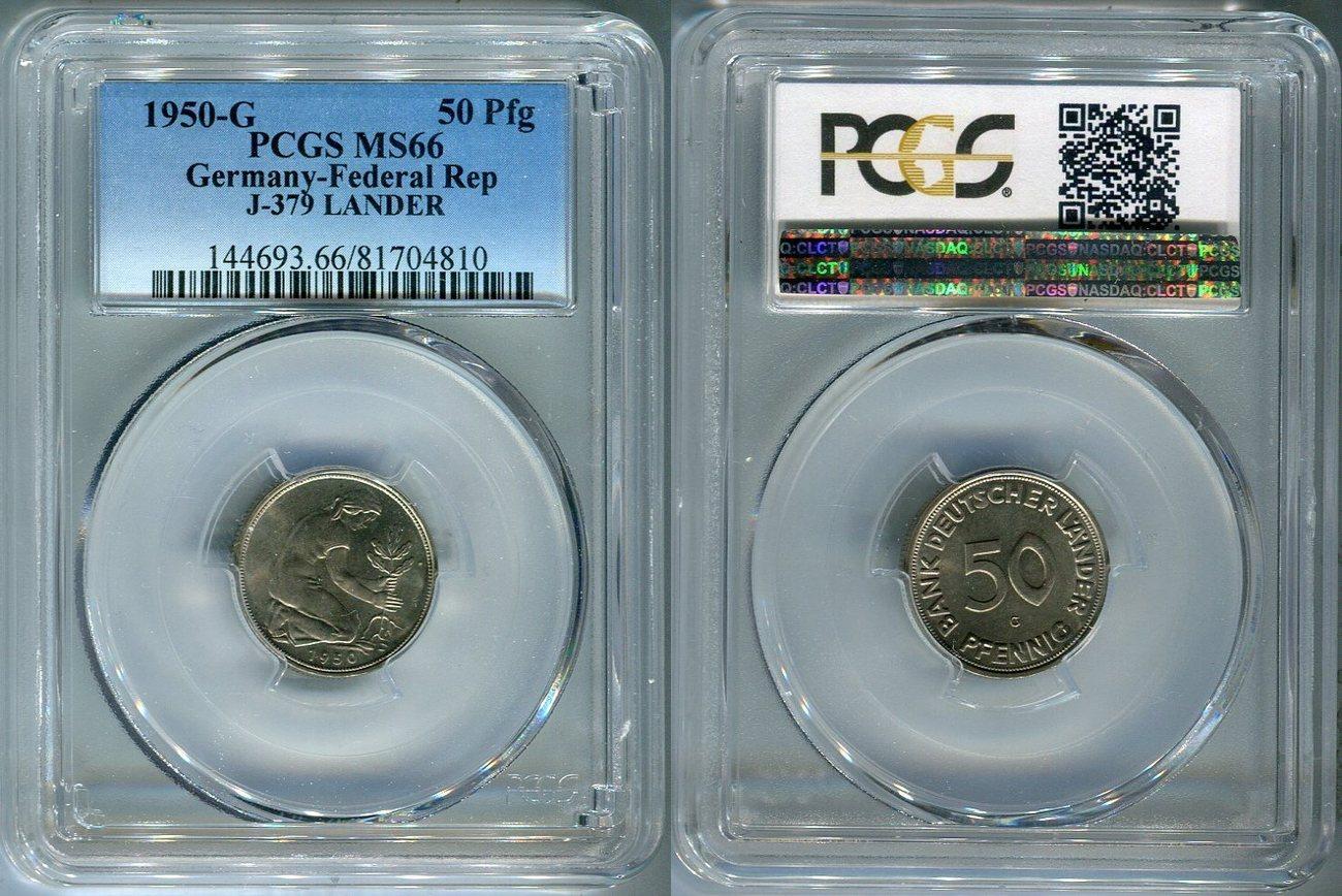 50 Pfennig Bank Deutscher Länder 1950 G Bundesrepublik Deutschland