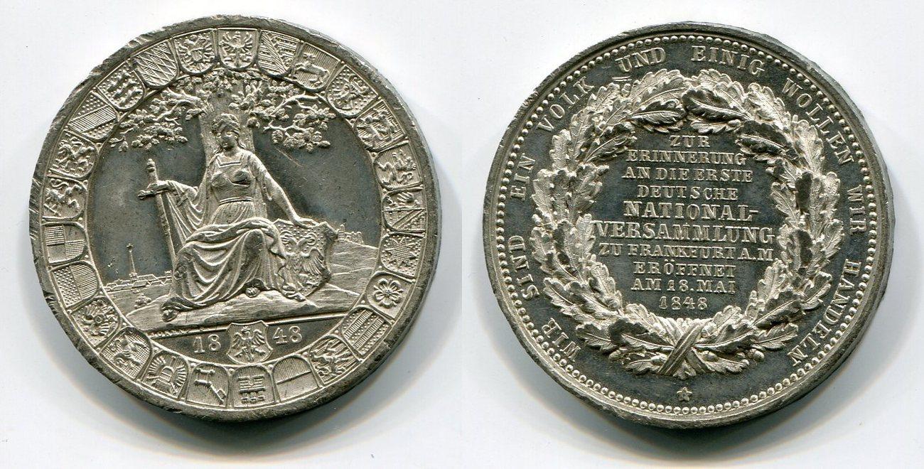 Zinn Medaille 1848 Deutschland Eröffnung Erste Deutsche