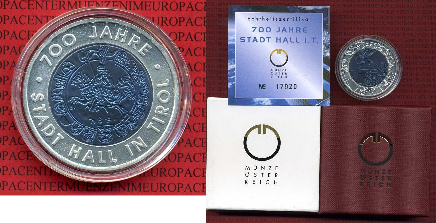25 Euro Bimetall Niob 2003 österreich Austria österreeich 25 Euro