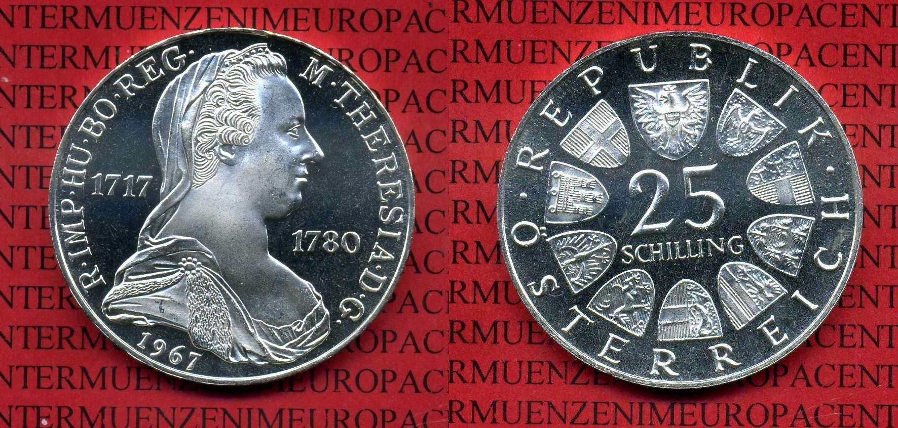 25 Schilling Ats Silber 1967 österreich Austria österreich 25