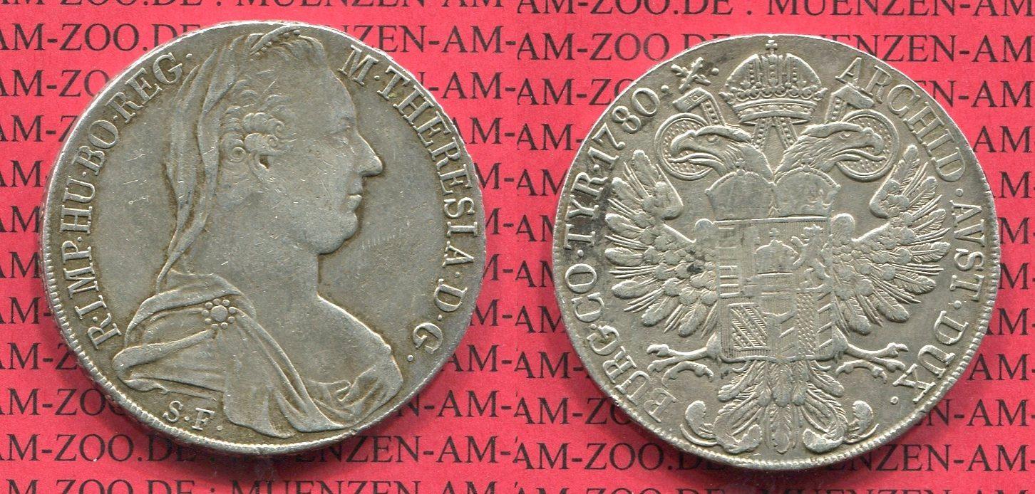 1 Taler Maria Theresia 1780 österreich österreich 1 Taler 1780 Sf
