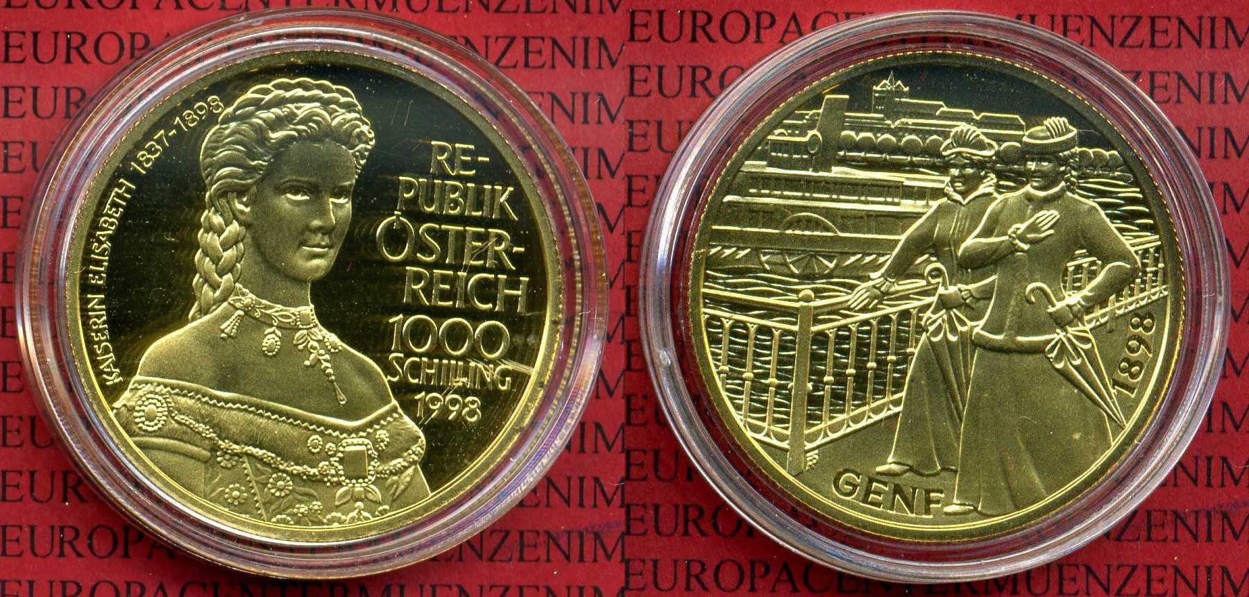 1000 Schilling Gold 1998 österreich österreich 1000 Schilling 1998