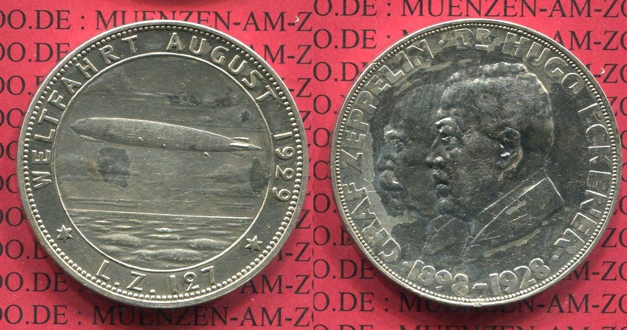 Medaille Zeppelin Weltflug 1928 Medaille Weimarer Republik Medaille