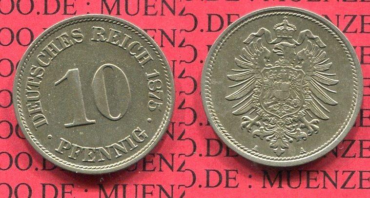 10 Pfennig 1875 A Kaiserreich Kleinmünze Nach Jäger Kaiserreich