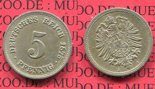5 Pfennig 1875 A Kaiserreich Kleinmünze Nach Jäger Kaiserreich