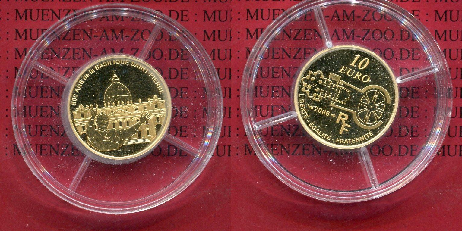 10 Euro Goldmünze 2006 Frankreich France Frankreich 10 Euro Gold