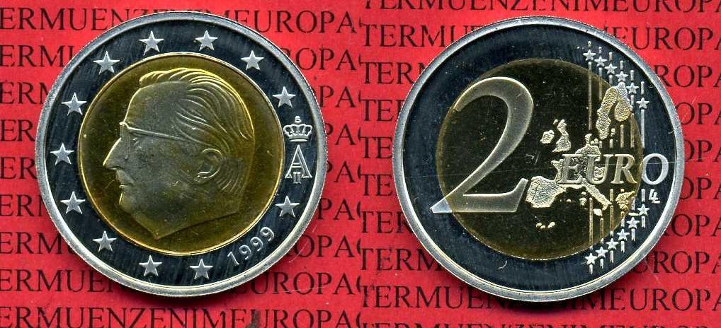 2 Euro Münze 1999 Belgien Belgien Belgium 2 Euro 1999 Kapsel
