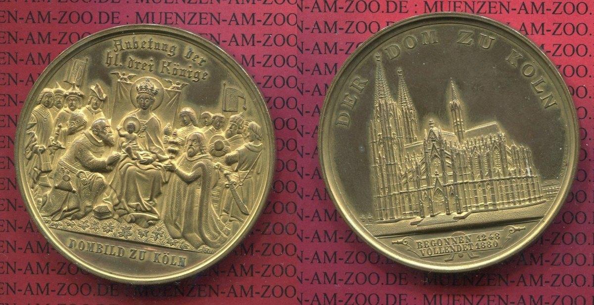 Medaille Kölner Dom 1880 Köln Medaille Auf Den Kölner Dom Vollendung