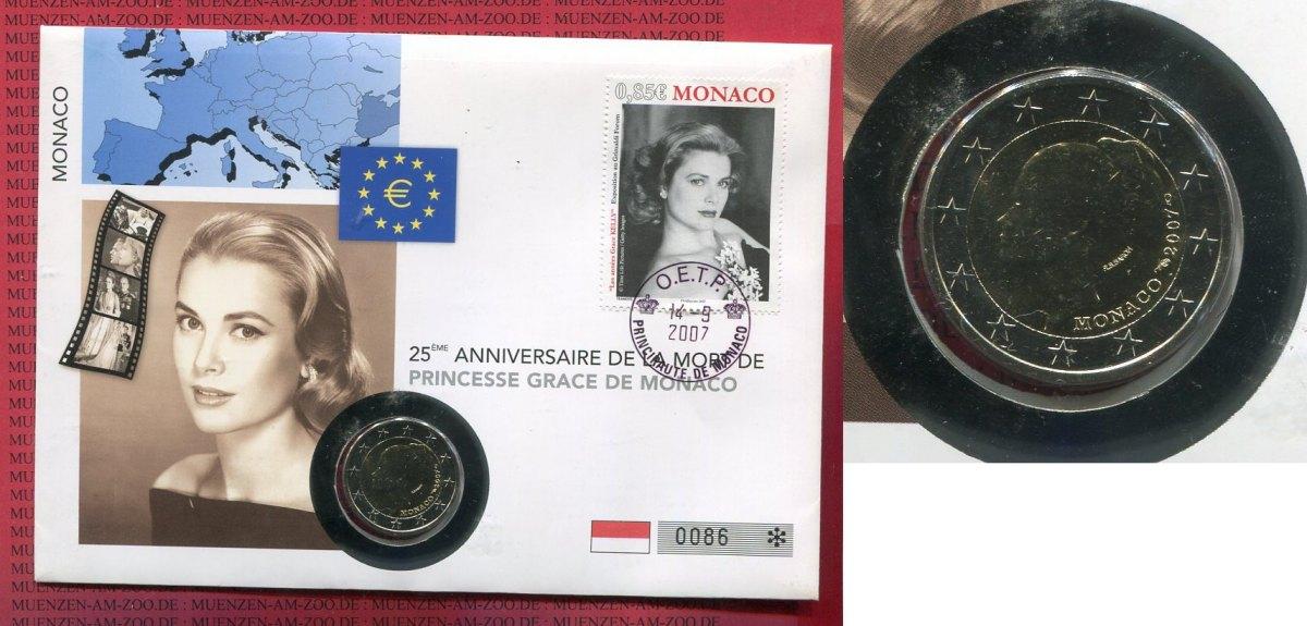 Kursmünze 2 Euro Grace Kelly 2007 Monaco Monaco 2 Euro 2007 Grace