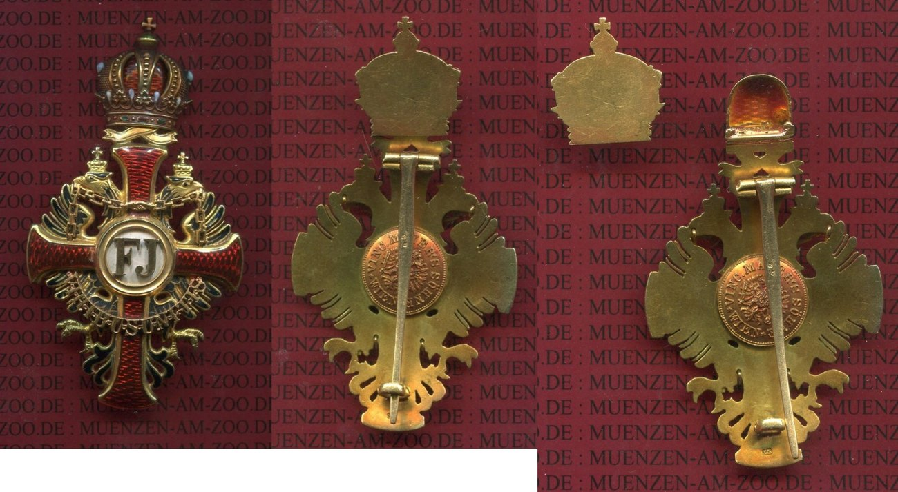 Franz Joseph Orden Offizierskreuz Gold 1849 österreich Austria Franz