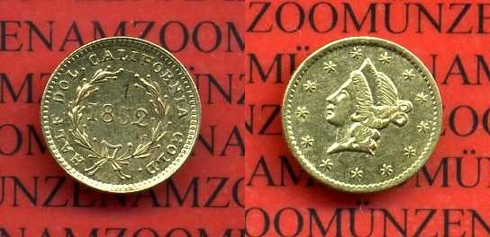 12 Dollar Goldmünze 1852 Usa Kalifornien Usa Half Dollar