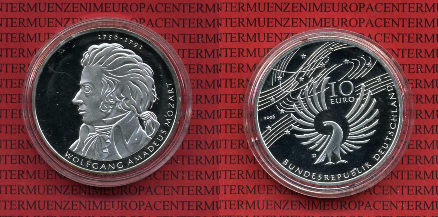 10 Euro Silber Gedenkmünze Deutschland 2006 Bundesrepublik