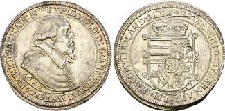 Habsburg: Taler Mzst. Ensisheim 1621. Kleiner Stem