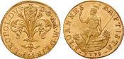 Italien Fiorino d´oro 1779 vz-st  /  vz, kl. Kratz