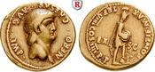 Aureus 62-63 ss+, kl. Stempelf. am Rand Nero, 54-