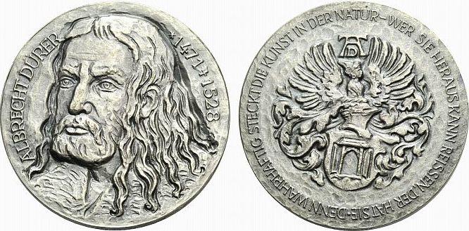 Ar Medaille Ojahr 1971 Personenmedaillen Dürer Albrecht 1471 1528