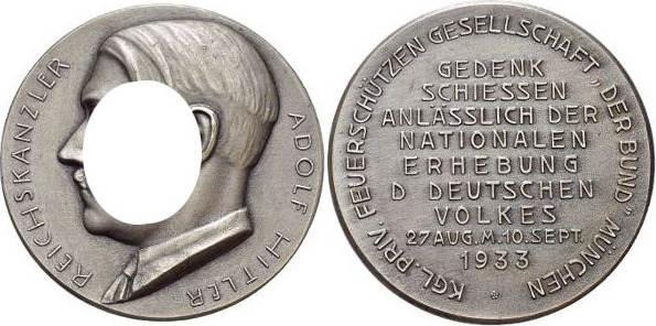 Medaille 1933 Drittes Reich München Winzkr Mattiert Selten Sup