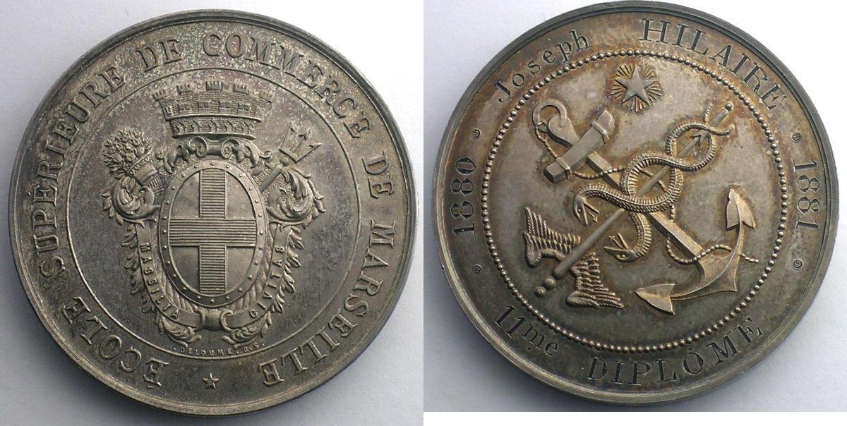 Jetons m dailles numismatique du commerce et de l 39 artisanat ecoles de commerce marseille ecole - Chambre de commerce marseille adresse ...