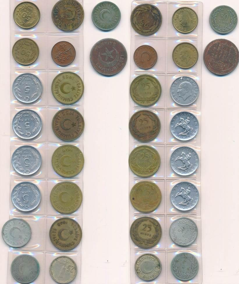5 25 50 Kurus 5 50 Lira 1937 1989 Türkei Lot 18 Münzen Türkiye
