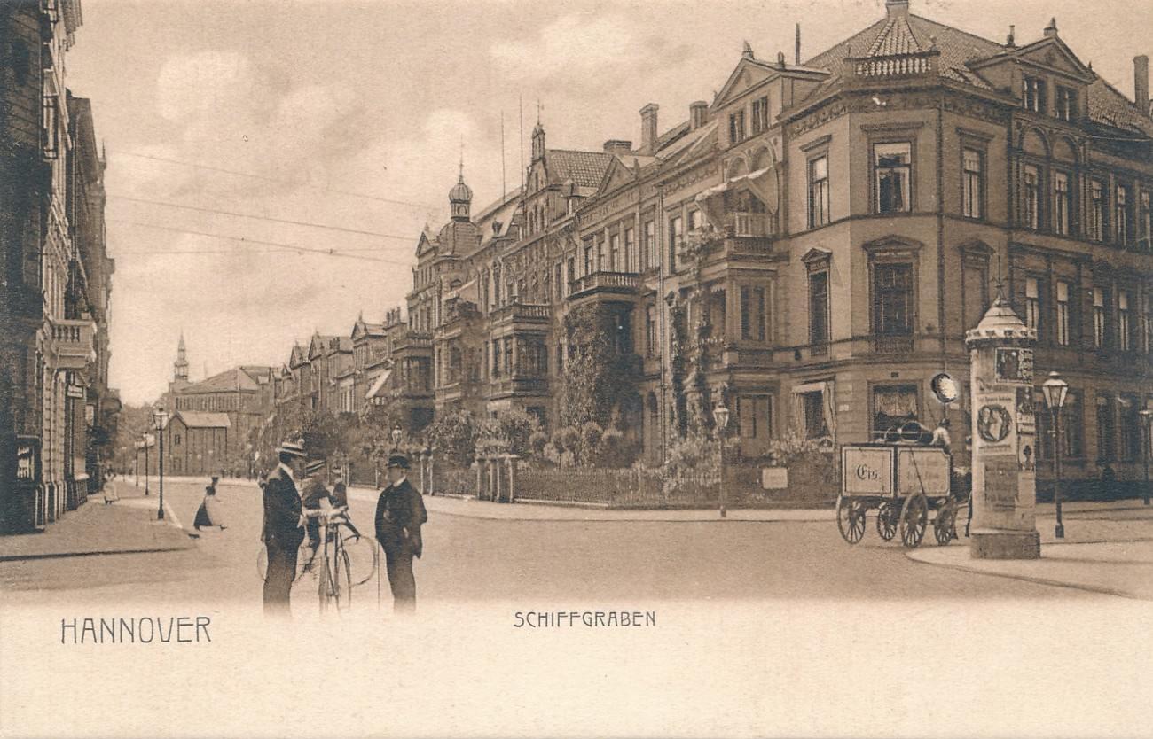 hannover ak schiffgraben um 1910 ma shops