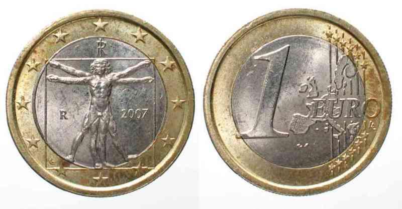 2007 Italien Italy 1 Euro 2007 Low Mintage Xf Unc 49958 Spl Ma Shops