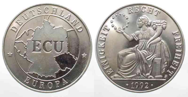 1992 Deutschland Bundesrepublik Germany Emporium Ecu 1992