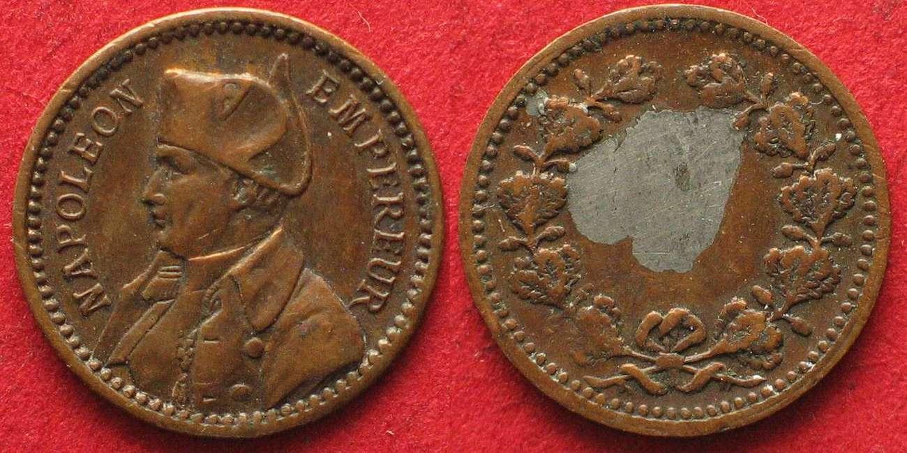 1860 Frankreich Jetons France Jeton Bronze Ca1860 Napoleon