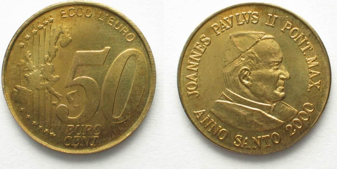 2000 Vatikan Proben Vatican 50 Cent 2000 Ecco Leuro Joannes