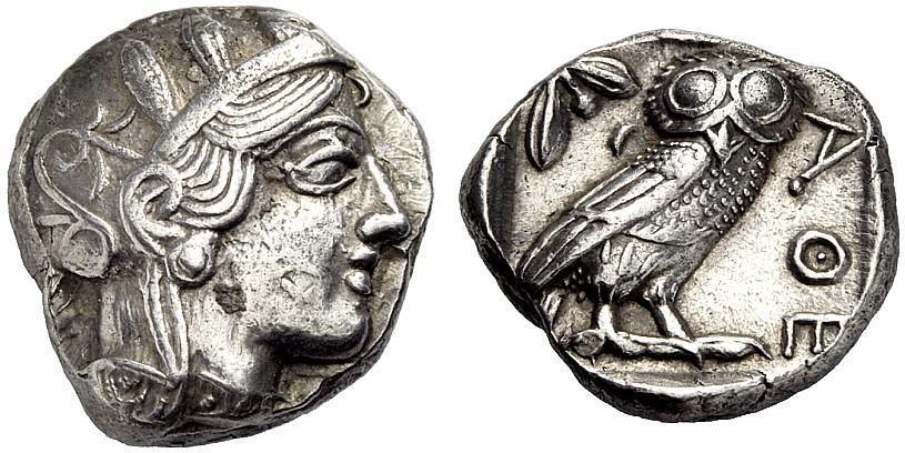 Tetradrachmon 435 420 V Chr Griechische Münzen Athen Sup Ma Shops