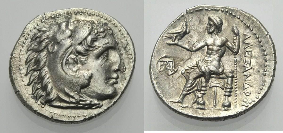 Drachme 295 275 V Chr Griechische Münzen Alexander Der Grosse