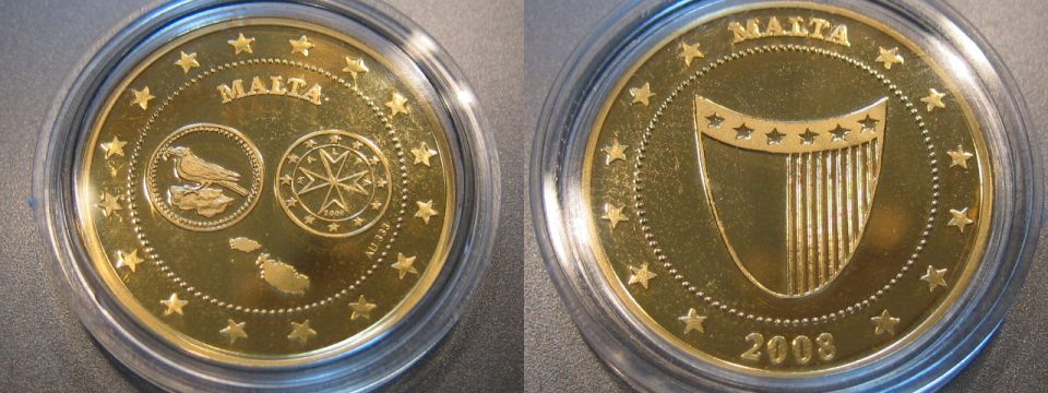 2008 Malta Malta Euro Einführung 15 Unze Gold Pp Proof