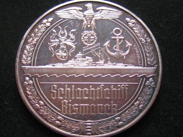 Deutschland World War 2 Medaille Iiweltkrieg Schlachtschiff
