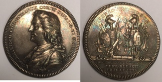 Silbermedaille / AR Medal 1807 Bremen und Verden / Schweden Gustav II Adolf - Johann Christoph Königsmarck. 1600-1663 vzgl